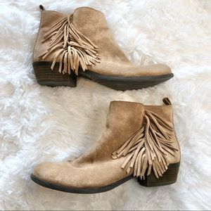 Vince Camuto Fringe Ankle Boots